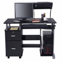 Goplus Computer Desk PC Laptop Table WorkStation Home Office Furniture Modern Study Writing Desktop With Printer