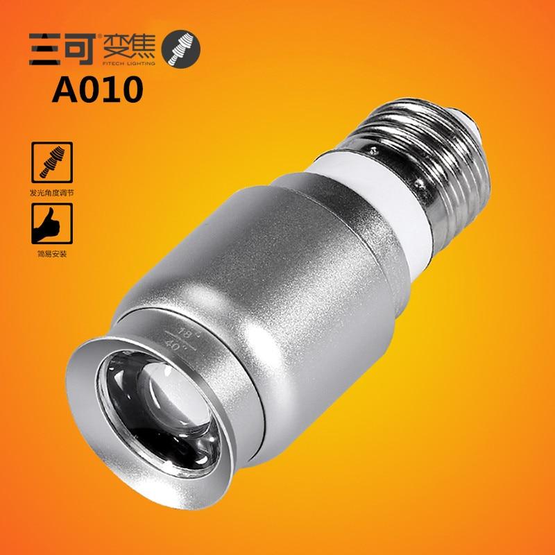 2014new 1W mini E27 base screw focusable LED spotlight bulb for coffee bar lighting AC100-240V 2pcs/lot