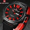 NAVIFORCE relógios homens Esportes militares relógios de Quartzo marca de luxo moda casual auto data semana 3ATM impermeável relógios de nylon