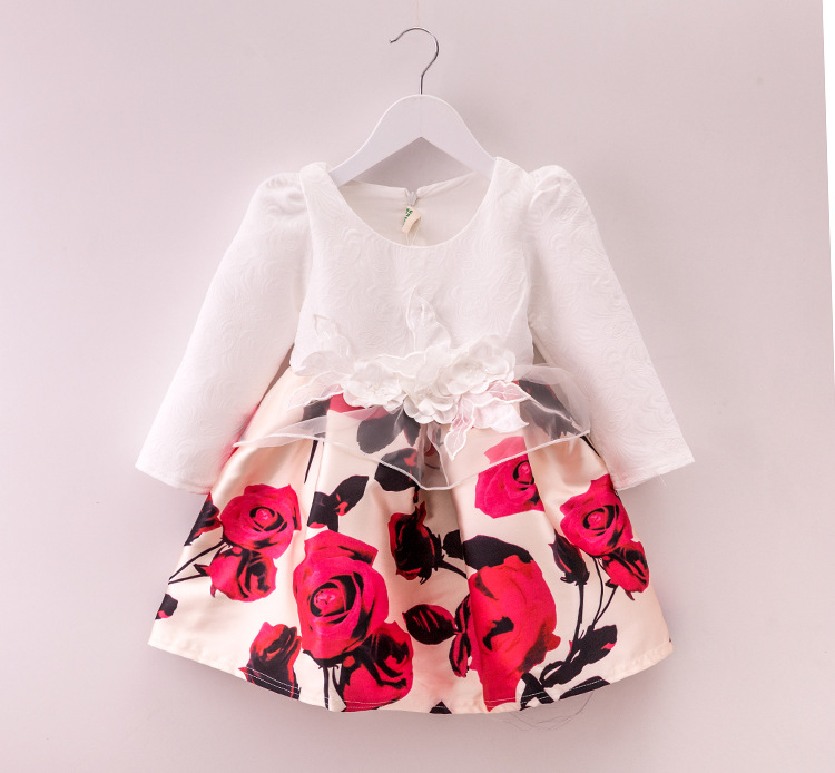 Hibyhoby Baby Girl Clothes bloemenprint Mouwloze meisjes Zomer casual - Kinderkleding - Foto 3
