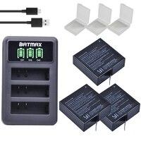 3Pcs 3 85V AZ16 1 Batteries For Original Xiaomi YI Lite 2 4K 4k LED USB