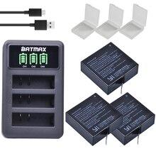 3Pcs 3.85V AZ16-1 Batteries For Original Xiaomi YI lite 2 4K 4k + LED USB  3slots Charger For Xiao yi 4k Action Camera Battery все цены