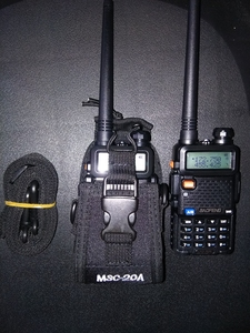 Image 2 - MSC 20A ווקי טוקי לbaofeng רדיו UV 5R,3R,888S,WLN רדיו ניילון ווקי טוקי תיק ניילון מקרה עבור שני מכשירי רדיו דרך