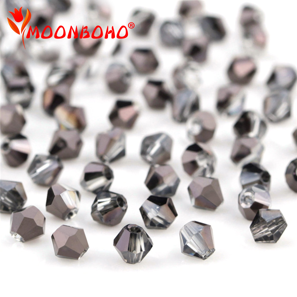 Diy Jewelry 70pc 6*8mm Faceted Rondelle glass crystal Beads Half silver