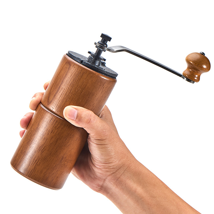 Manual Coffee Grinder Wooden Home Kitchen Mini Hand  Mill Household tool  Grinding Machine with a cleaning brush|Electric Coffee Grinders| |  -