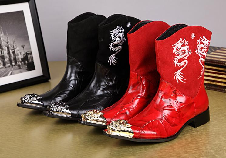 Red Mens Cowboy Boots Promotion-Shop for Promotional Red Mens ...