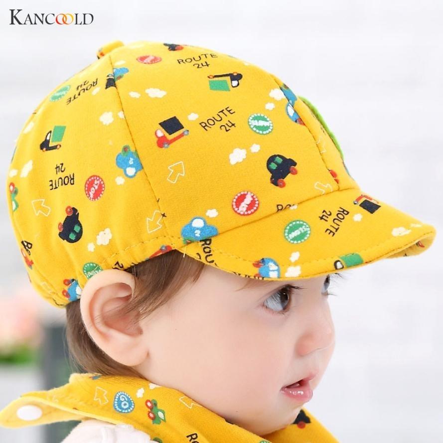 2017 Summer Cotton Comfortable Hats Cute Casual Car Cartoon Soft Eaves Baseball Cap Babywear Boy Beret Baby Girls Sun Hat AP204