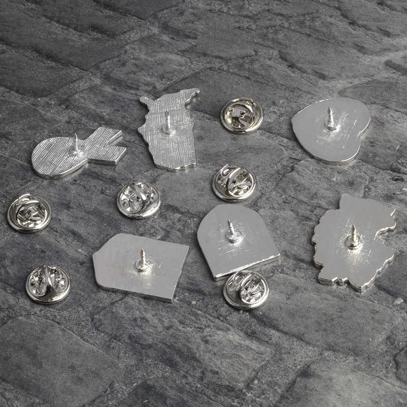 Qihe Perhiasan Jerman Kanada Italia Amerika Bendera Peta Enamel Bros Lencana Kerah Pin Bros untuk Pria Wanita