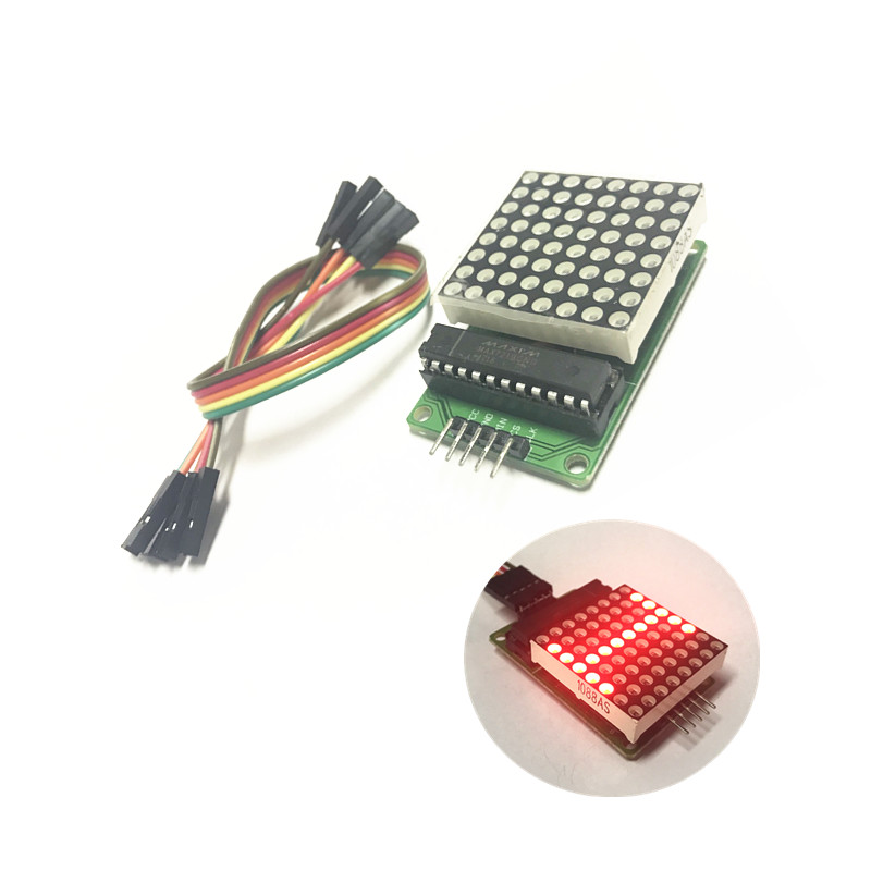 MAX7219 Dot Led Matrix Module MCU LED Display Control Module For Arduino 5V Interface Module 8 x 8 Output Input Common Cathode