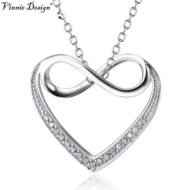 Vinnie design jewelry 925 sterling silver infinity heart pendant vinnie design jewelry 925 sterling silver infinity heart pendant necklace fashion women jewelry valentines gifts christmas aloadofball Images