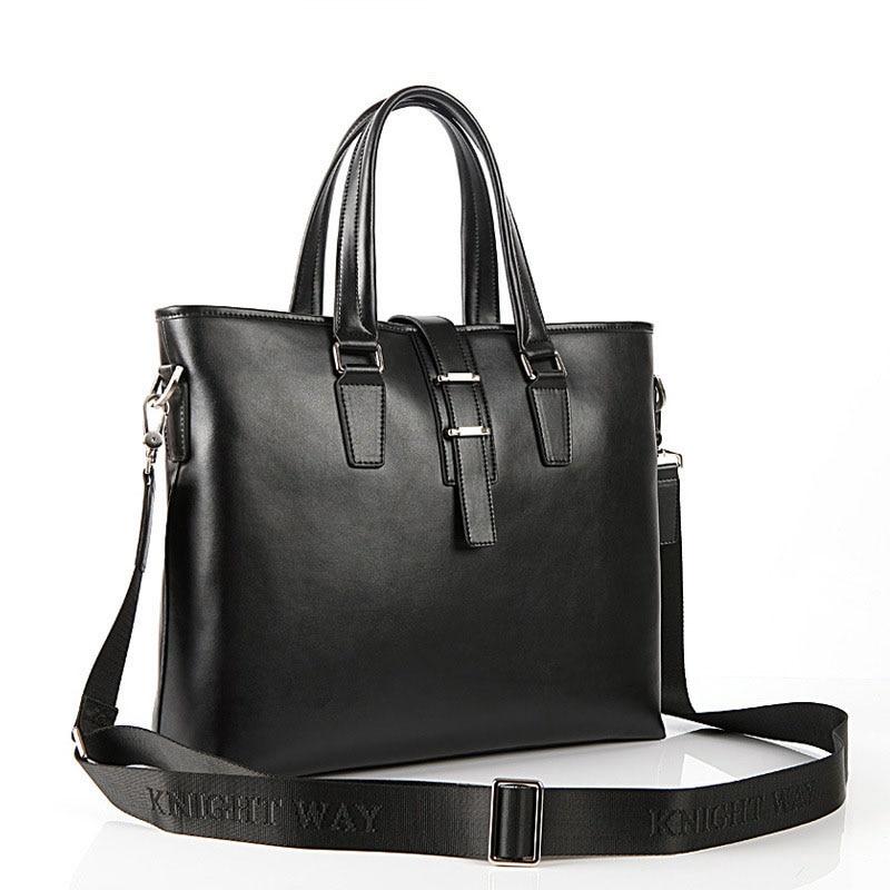 Здесь можно купить  Bele Buckle Closure Male Fashion Hand Bag Fashion Genuine Leather Work Bag Briefcase Men Black Coffee Laptop Hand-held Bag  Камера и Сумки