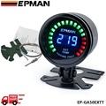 EPMAN racing 52mm Smoked LED Exhaust Gas Temp Temperature EXT Gauge with Sensor EP-GA50EXTT-FS