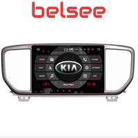 Belsee 9 IPS Touch Screen Octa Core Android 8.0 2 Din Stereo Radio DVD Player Multimedia Auto Head Unit for Kia Sportage 2019