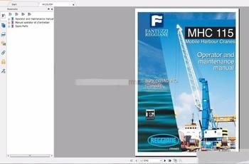 Fantuzzi Harbnour Cranes Operator, Maintenance Manual, Hydraulic and Electrical Schematic