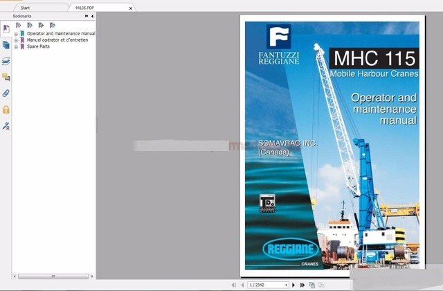 US $112.5 25% OFF|Fantuzzi Harbnour Cranes Operator, Maintenance Manual, on