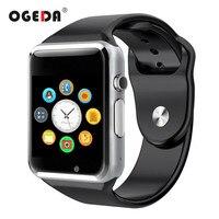 OGEDA Montre Smart Watch A1 Hommes Montre Bluetooth Tactile-écran Sport Podomètre Avec SIM Caméra Pour Android Mâle Montre Smart horloge Heure