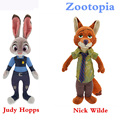 2016 Zootopia Plush Toys Rabbit Judy Hopps Fox Nick Cartoon Stuff Plush Doll Toys For Kids Gift
