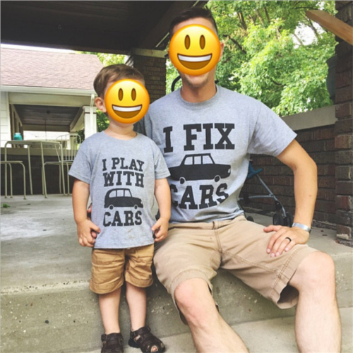 40bada4c3200 Family Matching Outfits 2018 Father Son Baby Kid Shirt Cotton Gray T-Shirt  Tops Clothes Summer Casual