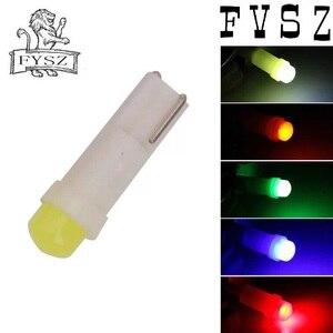 Image 4 - 10Pcs T5 12V Carros luzes led instrumento luz indicadora do painel do 3D 6 COB branco vermelho azul amarelo verde mm lâmpada