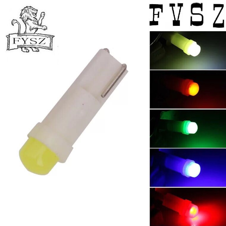 Image 4 - 10pcs T5 Car 12V led instrument light dashboard indicator light 3D COB white red blue yellow green 6mm bulb 10Pcs-in Signal Lamp from Automobiles & Motorcycles
