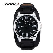 SINOBI Military Sports Men Wrist Watches Leather Watchband  Army Male Geneva Quartz Clock Erkek Saatler 2017 horloge relogio G01