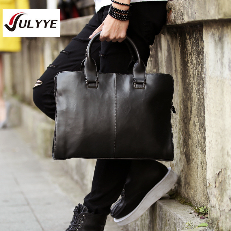 YULYYE New High Quality Men Casual Briefcase Business Shoulder Bag Leather Messenger Bags Computer Handbag Bag Men's Travel Bags fashion men bags business briefcase handbag pu leather multi style luxury shoulder messenger travel bag high quality men s bag