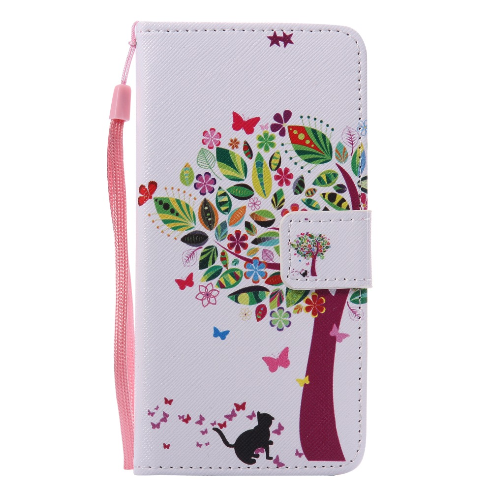 Cute Cartoon Lovely Cat Tree Girl Դրամապանակով - Բջջային հեռախոսի պարագաներ և պահեստամասեր - Լուսանկար 2