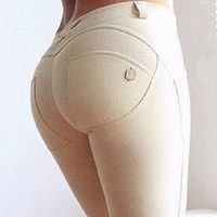 Women High Quality Thin Section Fashion Casual Low Waist High Pants Elastic Plus Size Pencil Skinny