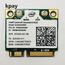 Doble banda 300 Mbps 6235 ANHMW Mini PCI E portátil tarjeta WiFi inalámbrica para Intel centrino avanzado N 6235 Bluetooth 4,0 tarjeta de red