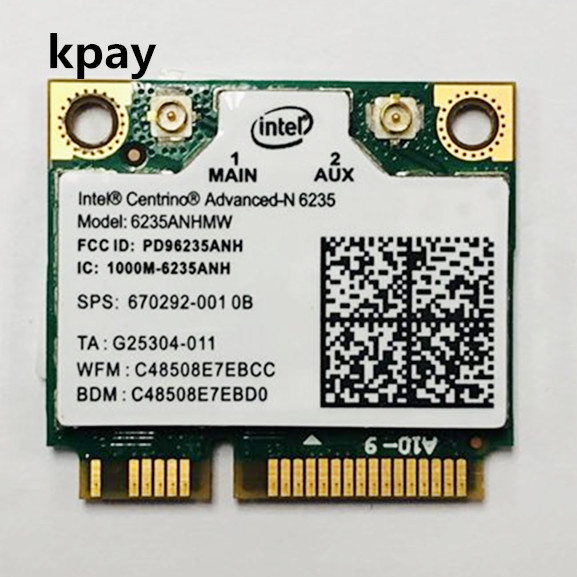 Dual Band 300Mbps 6235ANHMW Mini PCI E Laptop Wireless WiFi Card For Intel centrino advanced N 6235 Bluetooth 4.0 Network Card-in Network Cards from Computer & Office