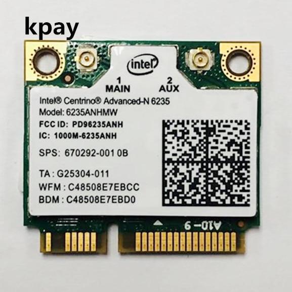 Intel centrino advanced n 300 bluetooth 6235 네트워크 카드 용 듀얼 밴드 6235 mbps 4.0 anhmw 미니 pci e 노트북 무선 wifi 카드