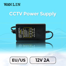 WAN LIN US EU Plug Power Supply DC 12V 2A CCTV System Power Adapter for AHD Security Camera IPC