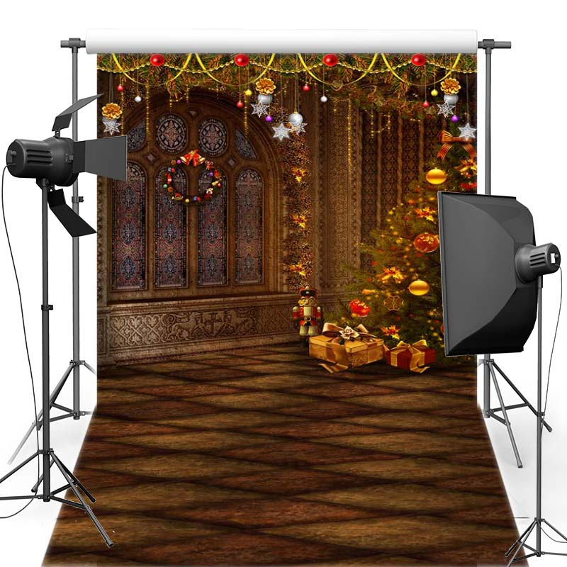 MEHOFOTO Merry Christmas Vinyl Photography Background Fireplace Castle New Fabric Flannel Backdrop For Children Photo Shoot 6358 retro background christmas photo props photography screen backdrops for children vinyl 7x5ft or 5x3ft christmas033