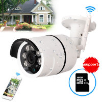 CCTV Outdoor Waterproof Bullet IP Camera Wifi Wireless Surveillance Camera Built In Memory Card Slot