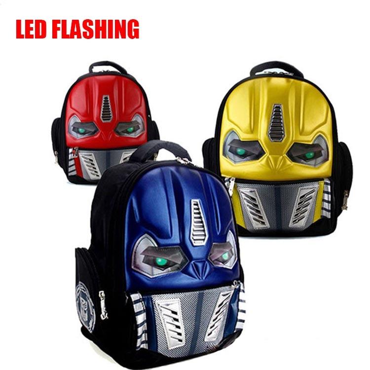 Christmas Gift 3D Robot School Bags For Boy Girls First Grade School  Backpacks For Children Kids Schoolbag Mochila Escolar 405924f7e6d4d