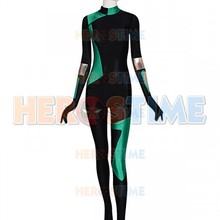 Newest Shego Super Villain Cosplay Costume Spandex Halloween Costumes for Woman Zentai Catsuit 2021