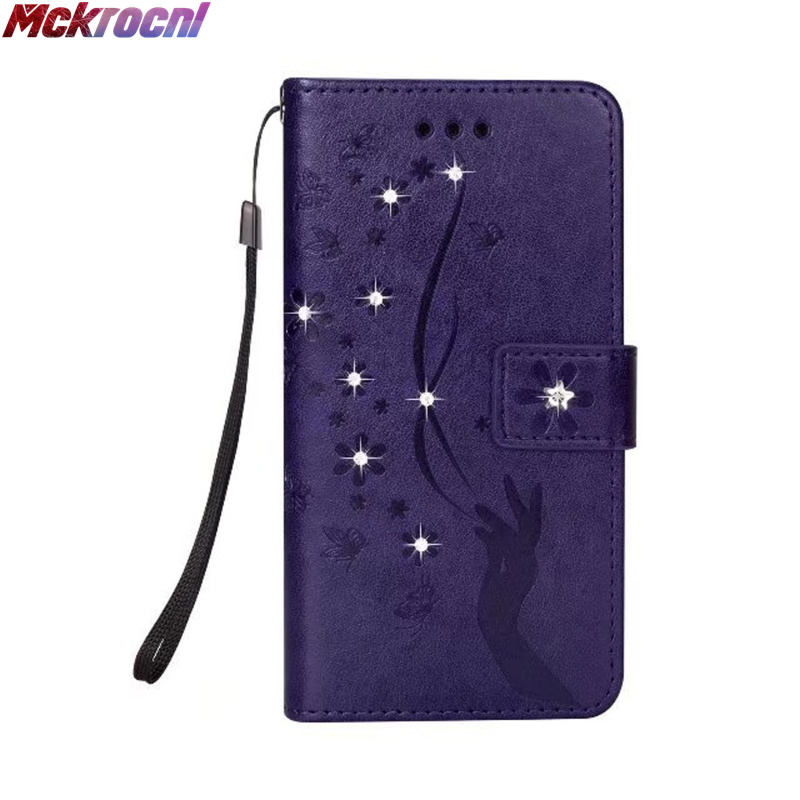 MCKROCNL Classic fashion embossed flash drill + card series for iphone 6 7 8 plus X mobile phone protection box coque