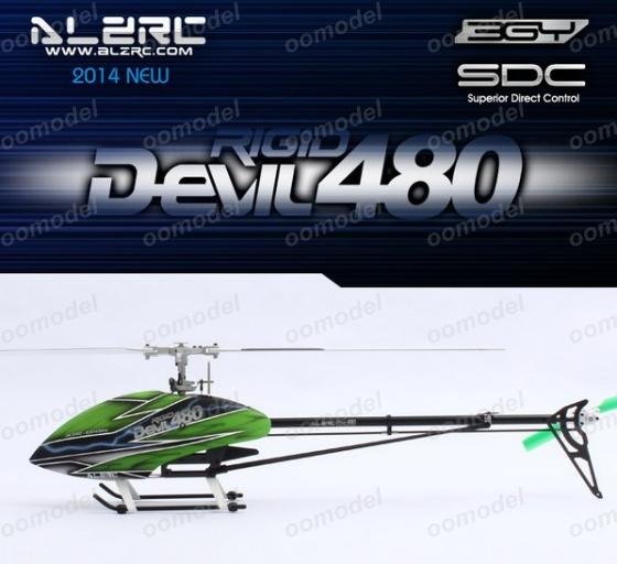 ALZRC Devil 480 Rigid Super Combo SDC/DFC Silver Alzrc 14H48DRSCA2 14H48DFK RC Helicopter Track Shipping alzrc devil 500 pro sdc dfc brushless esc motor carbon fiber structure 3300mah battery flybarless gyro system rc helicopter kit