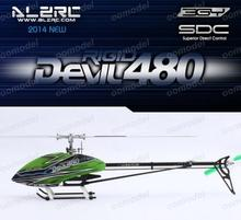 ALZRC Devil 480 Rigid Super Combo SDC/DFC Silver Alzrc 14H48DRSCA2 14H48DFK RC Helicopter Track Shipping