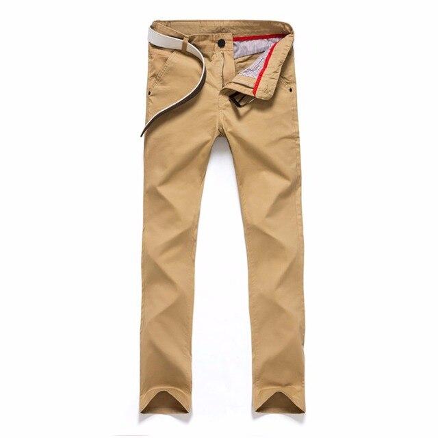 Tengo Brand Men Fashion Pants Pants Casual Men Cotton Straight Trousers Active Jeans Slim Thin Male Teenager Trouser Plus Size
