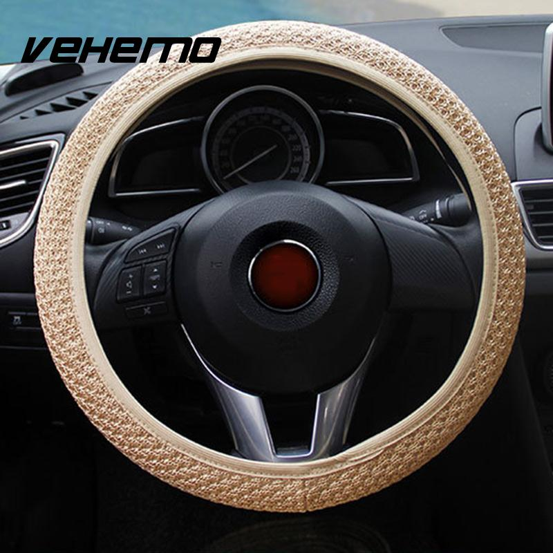 Hot Sale Auto Interior Universal Handmade Skidproof Steering Wheel Cover