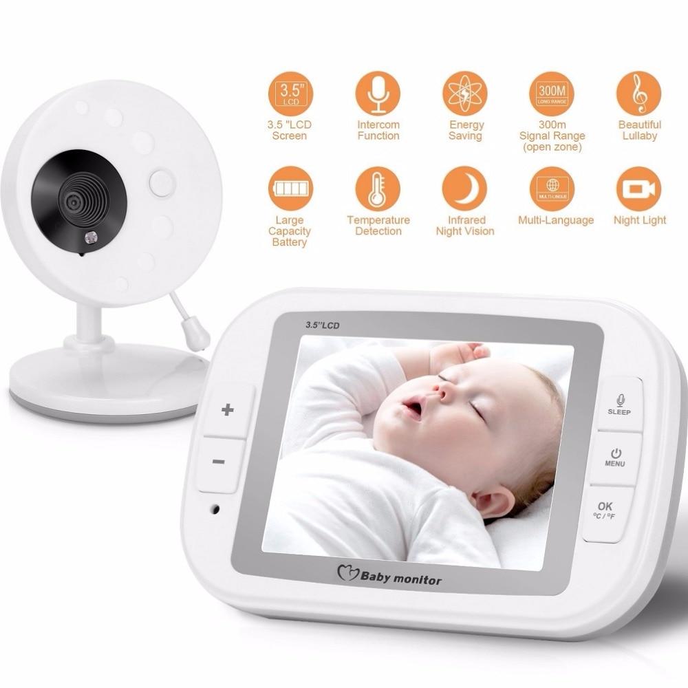 babykam bebek telsizi baby camera with monitor 3.5 inch IR Night Vision Temperature Sensor Lullaby Intercom bebek kamera nanny