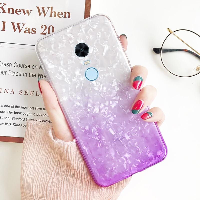 For Xiaomi Redmi 5 Cases Girl Gradient Shining conch shell For Xiomi Redmi 5 Plus Soft Silicone TPU full Coverage Coque
