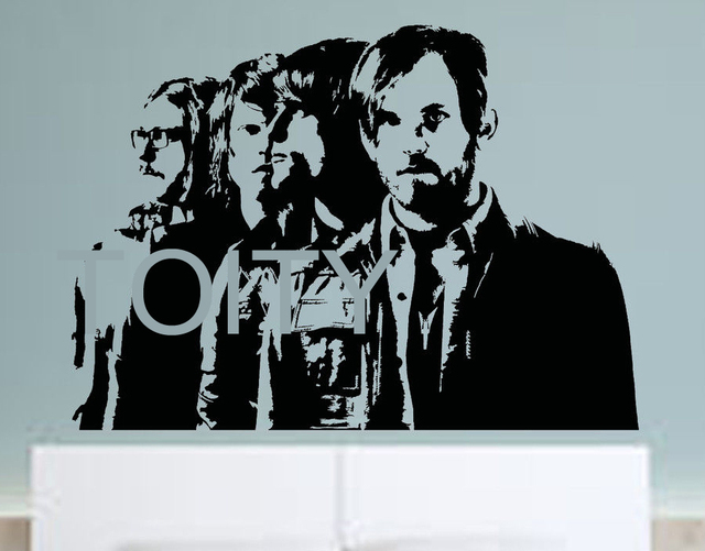 Kings of leon wall sticker rock band vinyl decal music art decor bar studio club restaurant