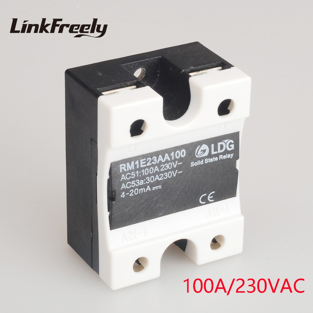 RM1E23AA100 Single Phase AC Solid State Relay Industrial Analog Switching SSR 100A/24-280VAC Isolation Voltage Regulator Relay new and original sam4080a gold single phase ac solid state relay 90 280vac 48 530vac 80a