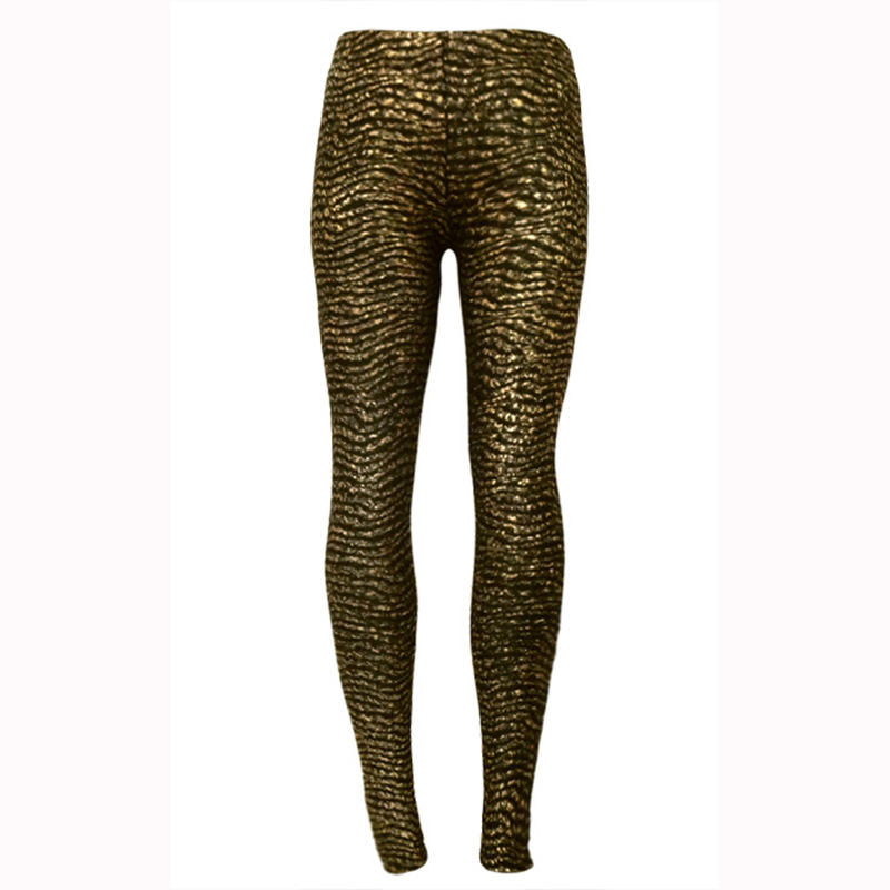2017 Cheap Clothes Women's Leggings Golden Egyptian Style