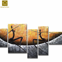 Living Room Picture Modern Simple Decoration Handmade Oil Painting Framed Wall Art Cuadros Decorativos Canvas Prints LKM040