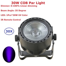 цена на 30 Unit 30W COB Par Light UV Color Disco Lamp Stage Lights luces discoteca laser Beam luz de projector lumiere dmx controller