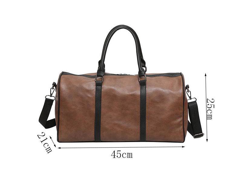 Women Travel Bag PU Leather Zipper Women Bag Large Capacity Casual Simple Women And Men Travel Bag