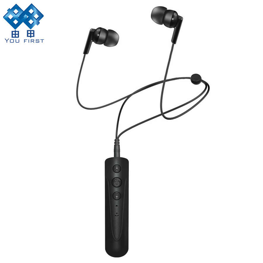 YOU FIRST Bluetooth Earphone Wireless Headphones 3.5mm AUX Sport Handsfree Neckband Headphone Wired Earphones With Mic For Phone